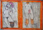 Josef Hofer, ohne Titel, VIII 2016, Bleistift und Farbstifte auf Papier, 29,6 x 42 cm, Privatbesitz / propriété privée / private property
