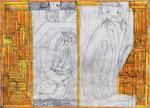 Josef Hofer, ohne Titel, VIII 2012, Bleistift und Farbstifte auf Papier, 63 x 88 cm, Collection abcd, Montreuil