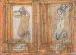 Josef Hofer, ohne Titel, 2008, Bleistift und Farbstifte auf Papier, 42 x 29,7 cm, Collection de l'Art Brut, Lausanne