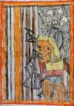 Josef Hofer, ohne Titel, VI 2014, Bleistift und Farbstifte auf Papier, 42 x 29,6 cm, Privatbesitz / propriété privée / private property