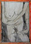 Josef Hofer, ohne Titel, X 2014, Bleistift und Farbstifte auf Papier, 42 x 29,6 cm, verfügbar / disponible / available: Elisabeth Telsnig, Elsbethen