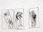 Josef Hofer, ohne Titel, 2001, Bleistift auf Papier, 30 x 40 cm, Collection de l'Art Brut, Lausanne