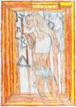 Josef Hofer, ohne Titel, V 2014, Bleistift und Farbstifte auf Papier, 42 x 29,6cm,  verfügbar / disponible / available: Florian Sundheimer Kunsthandel GmbH, München