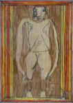 Josef Hofer, ohne Titel, VIII 2009, Bleistift und Farbstifte auf Papier, 42 x 29,6 cm, verfügbar / disponible / available: Galerie Christian Berst, Paris