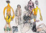 Josef Hofer, ohne Titel, 2001, Bleistift und Farbstifte auf Papier, 31,5 x 44,2 cm, Collection de l'Art Brut, Lausanne