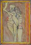 Josef Hofer, ohne Titel, XII 2012, Bleistift und Farbstifte auf Papier, 42 x 29,6 cm, Privatbesitz / propriété privée / private property