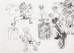 Josef Hofer, ohne Titel, 2002, Bleistift auf Papier, 50 x 69,7 cm, Collection de l'Art Brut, Lausanne