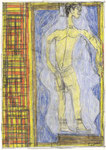 Josef Hofer, ohne Titel, 2004, Bleistift und Farbstifte auf Papier, 42 x 29,6 cm, Privatbesitz / propriété privée / private property