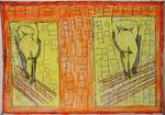 Josef Hofer, ohne Titel, IV 2016, Bleistift und Farbstifte auf Papier, 29,6 x 42 cm, verfügbar / disponible / available: Elisabeth Telsnig, Elsbethen