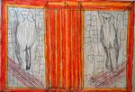 Josef Hofer, ohne Titel, VIII 2016, Bleistift und Farbstifte auf Papier, 29,6 x 42 cm, verfügbar / disponible / available: Elisabeth Telsnig, Elsbethen