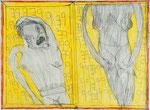 Josef Hofer, ohne Titel, IV 2014, Bleistift und Farbstifte auf Papier, 44,7 x 60,6 cm, Privatbesitz / propriété privée / private property