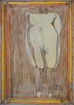 Josef Hofer, ohne Titel, I 2013, Bleistift und Farbstifte auf Papier, 42 x 29,6 cm, verfügbar / disponible / available: Florian Sundheimer Kunsthandel GmbH, München