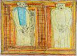 Josef Hofer, ohne Titel, V 2006, Bleistift und Farbstifte auf Papier, 44 x 60 cm, Privatbesitz / propriété privée / private property