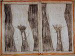Josef Hofer, ohne Titel, VII 2015, Bleistift und Farbstifte auf Papier, 44 x 60 cm, verfügbar / disponible / available: Elisabeth Telsnig, Elsbethen