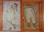 Josef Hofer, ohne Titel, V 2015, Bleistift und Farbstifte auf Papier, 50 x 70 cm, verfügbar / disponible / available: Elisabeth Telsnig, Elsbethen