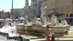 Une des 3 fontaines de la Piazza Navone