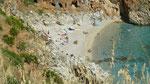 Petite plage dans la réserve de Zingaro