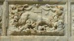 Fontaine d'Orione (détail) : la louve de Romulus et Remus