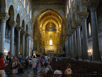 Intérieur du duomo : 6500 m2 de mosaîque bizantine