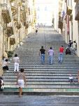 Caltagirone: l'escalier conduisant à la cathédrale San Giuliano