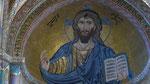 Superbe Christ Pantocrator en mosaïque bisantine
