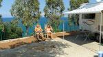 Raïs Gerbi : très grand camping avec 5 c-cars. Elle est pas belle, la vie ?