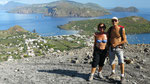 Du bas du cratère, belle vue sur Vulcanello et Lipari