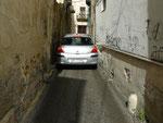 Mazara : Cela vous donne une idée de la largeur de certaines rues