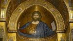 Christ pantocrator en mosaïque