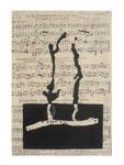 © Schidlo 2020; An die Freundschaft, Jos. Haydn, Linoldruck auf vergilbten Notenpapier
