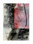 © Manfred Schidlo 2014/18; Das Böse lauert überall; Monotypie, Collage, Tempera, Kreide