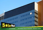カナダ、コンコルディア大学大学院(モントリオール)に設置されたソーラーウォールPV/Tシステム