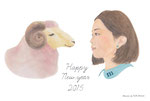 Mami Yamasaki-Design/2015 年賀状