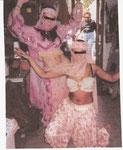 danseuse du ventre rose et saumon T36/42