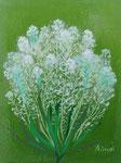 「お花」 サイズ:ミニ(手のひらサイズ) 油彩