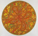 Element Luft, 100X100 cm, Serie: Vier Elemente 2/4