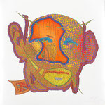 Pollock II, 70X70 cm