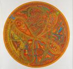 Element Erde, 100X100 cm, Serie: Vier Elemente 4/4