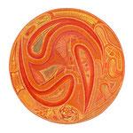 Wurzel Chakra, 70X70 cm