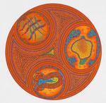Orange, 70X70 cm