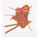 Maske, 70X70 cm