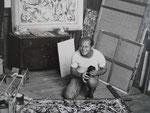 überall hängen Bilder von Jackson Pollock