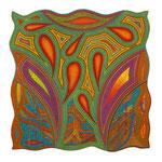 Bloomingdale, 100X100 cm, Homage an die Künstlergruppe um Virginia Wolff