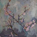 Petits cerisiers, hst 30*30 cm