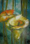 Acryl auf Leinwand ~  Cala  ~  zweiteilig  2 x 40 x 90 cm