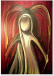 Acryl auf Leinwand    ~   Ein roter Engel      ~     50 x 80 cm