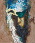 Petite tête grotesque IV - huile et acryl sur toile - 50 x 41 cm - n°29/2014