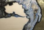 Figure - gouache et encre sur parchemin (agneau) - 21 x 30 cm, 2018