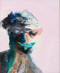Petite tête grotesque II - huile et acryl sur toile - 50 x 41 cm - n°25/2014