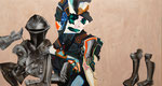 Notturno II (molto intenso, ossessivo) - acryl, huile et cheveux et poussières sur toile - 103 x 192 cm - n°7/2007